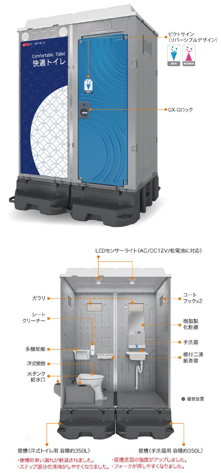 仮設トイレ[WGXシリーズ]